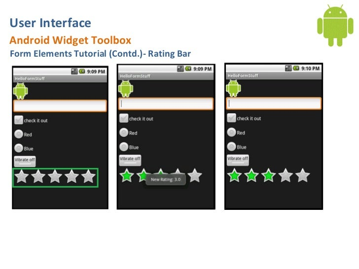 Android User Interface: Basic Form Widgets
