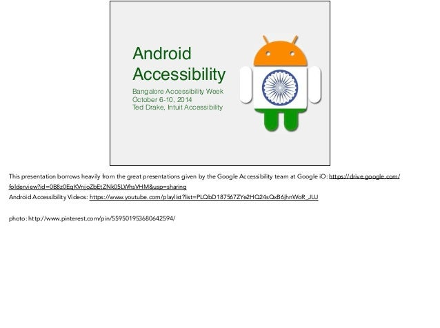 Android accessibility for developers and QA