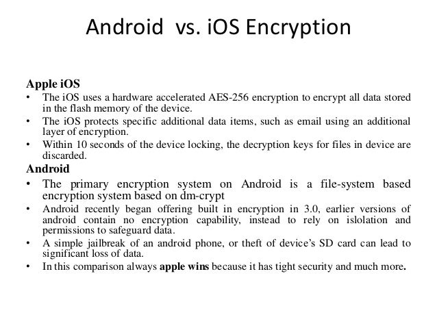 compare and contrast ios and android