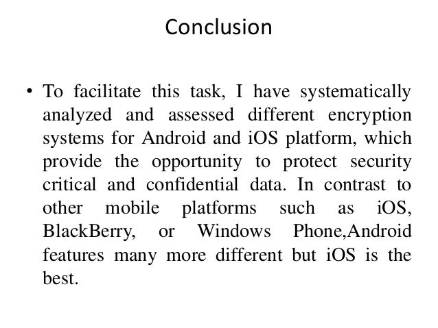 Android vs iOS encryption systems