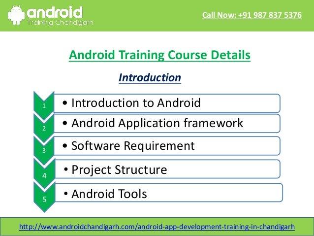 Android App development training in chandigarh