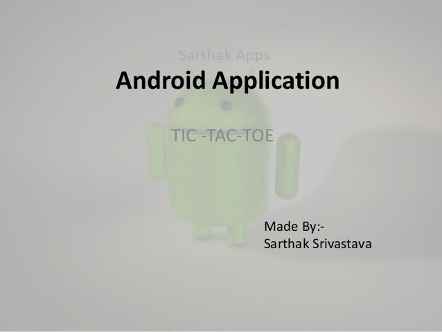 Android application - Tic Tac Toe
