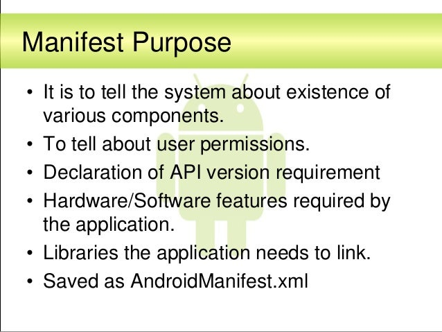 Android application development fundamentals