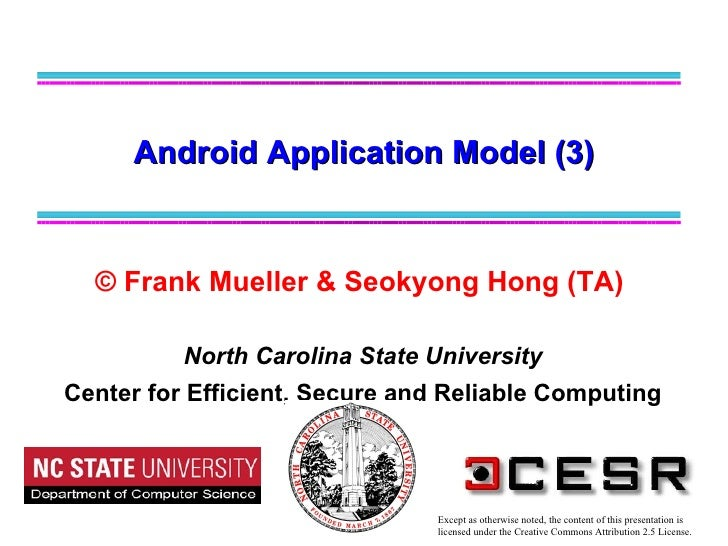 © Frank Mueller & Seokyong Hong (TA)   North Carolina State University Center for Efficient, Secure and Reliable Computing...