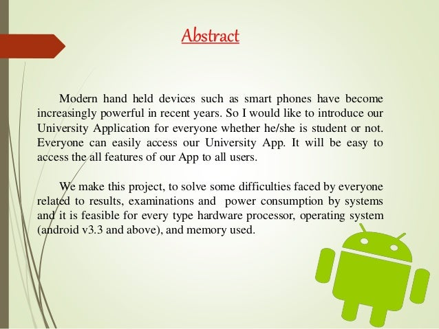 Android app ppt.