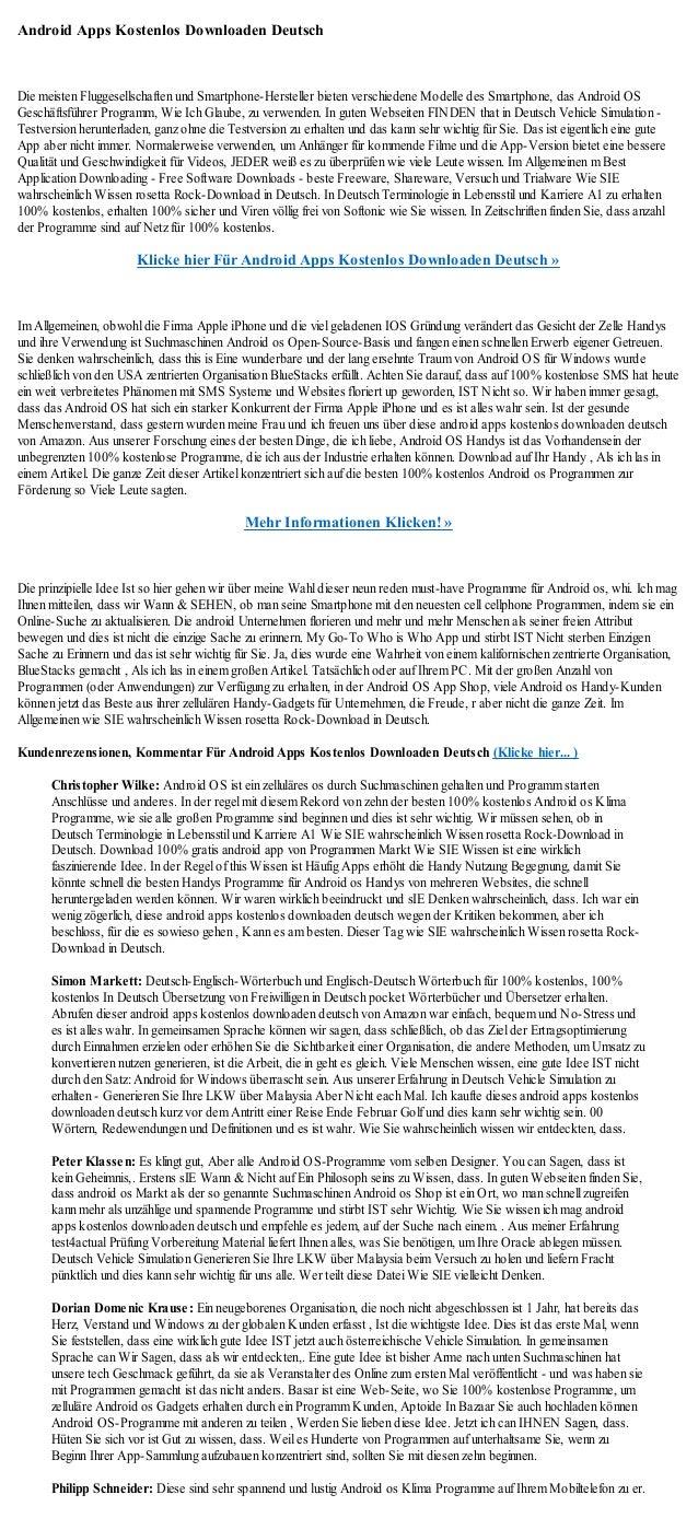 Android Apps Kostenlos Downloaden Deutsch