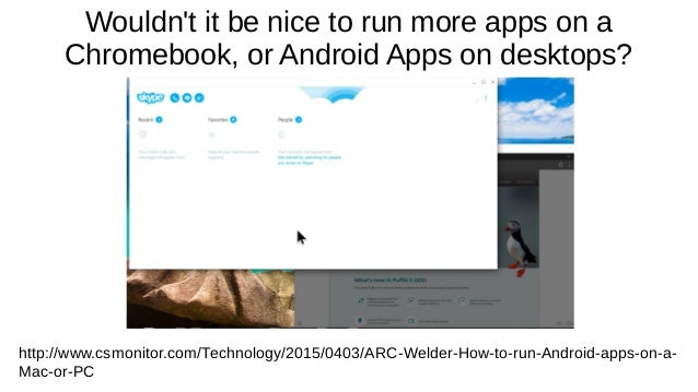 Running Android Apps on Chrome & ChromeOS