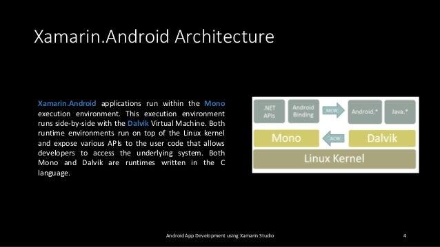 Android app development using xamarin studio for Xamarin architecture