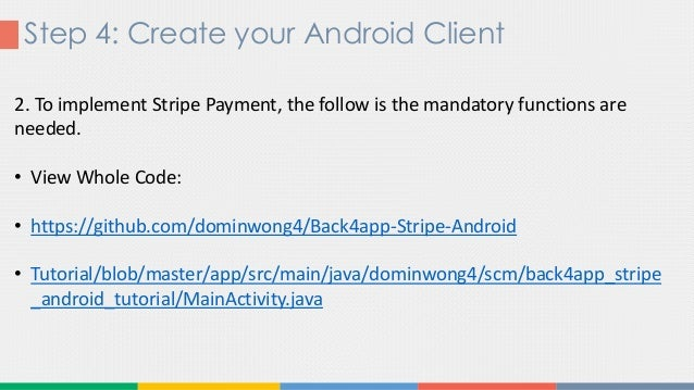 Stripe payment integration with Android app