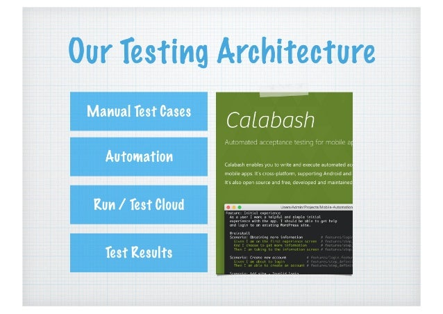 Automation Testing: using Cucumber + Calabash on Android Apps Slide 3