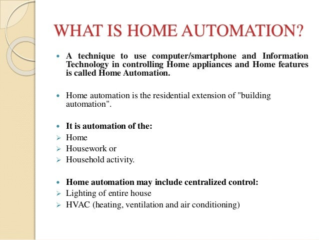Android based home automation for Home automation basics