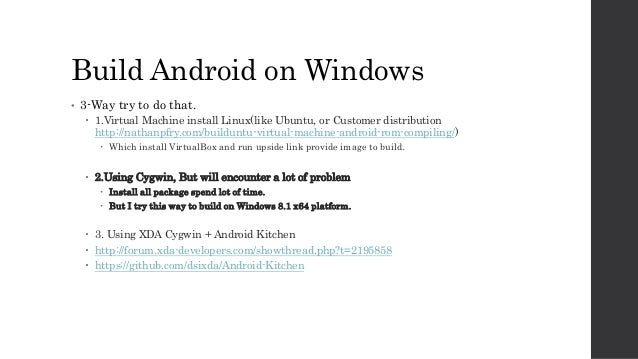 Android build on windows