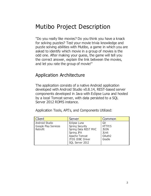 Android Capstone Project, Final Deliverable Documentation