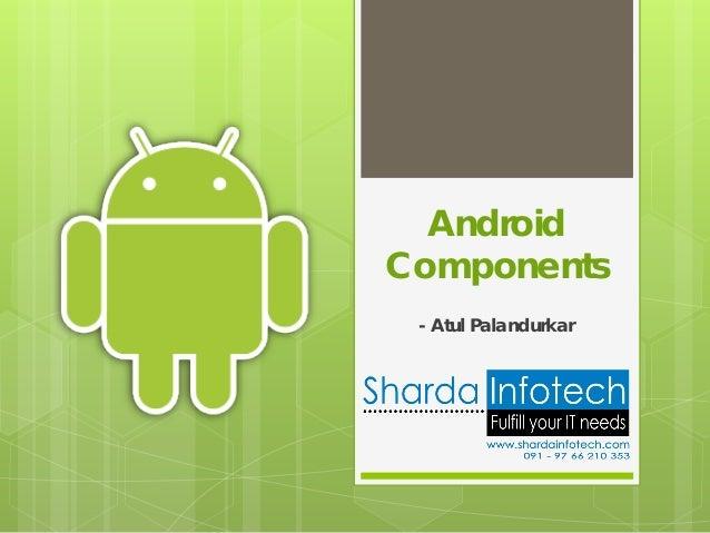 AndroidComponents - Atul Palandurkar