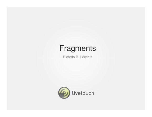 FragmentsRicardo R. Lecheta