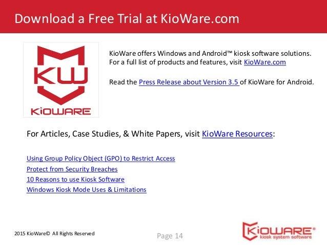 Configure KioWare for Android