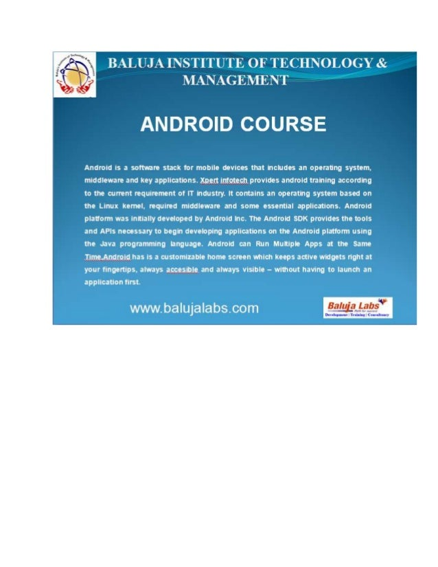 Android course