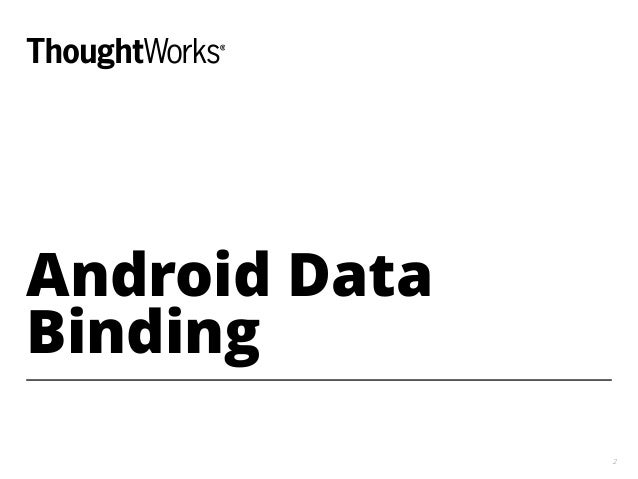 Android Data Binding 2