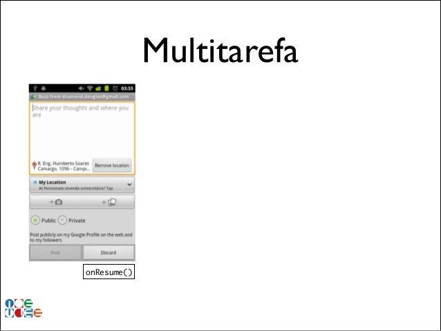Multitarefa  onResume()