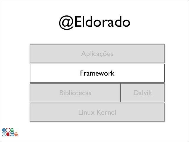 @Eldorado Aplicações Framework Bibliotecas Linux Kernel  Dalvik