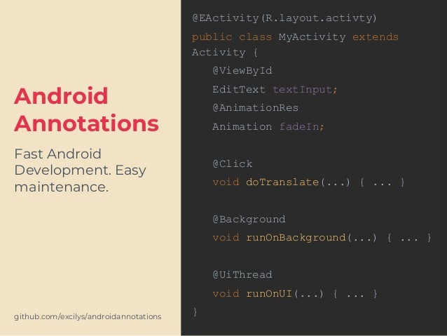 Android Developer Toolbox 2017