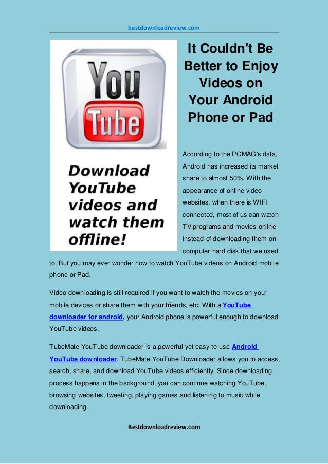 How to download Youtube videos quickly in your Android phone