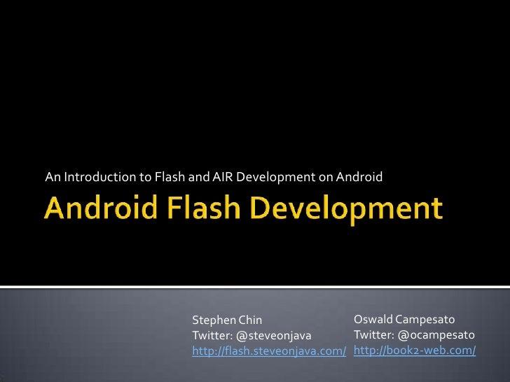 Beginning Android Flash Development