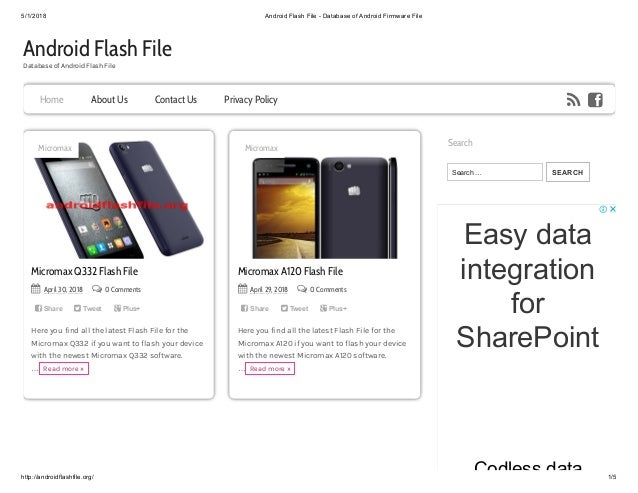 Android Flash File - Database of Android Firmware File
