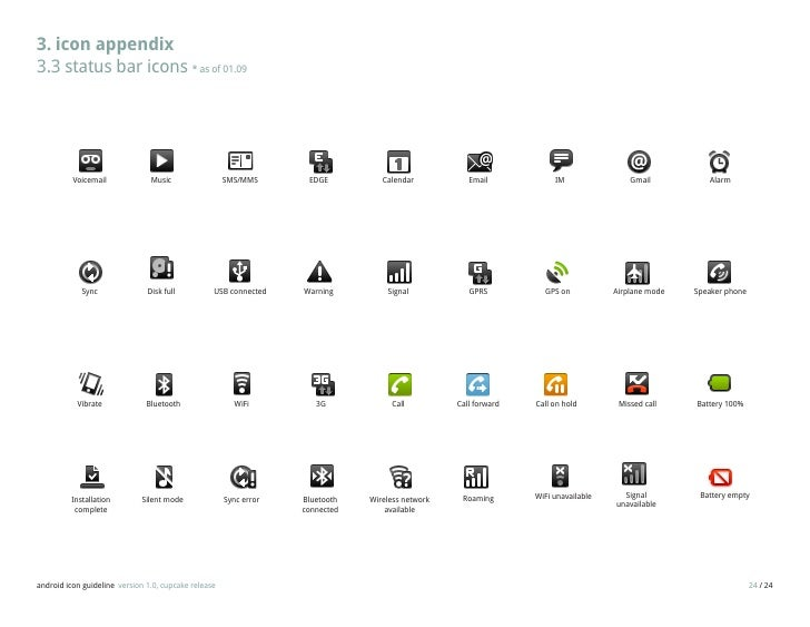 Android Icon Guidelines Draft0309