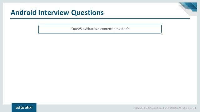Android Interview Questions And Answers | Android Tutorial