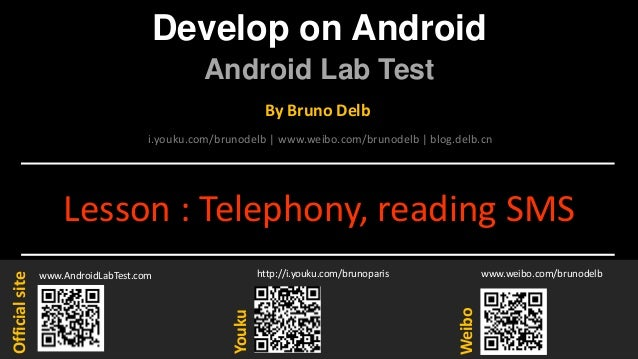 Android Lab Test : Reading the SMS-inbox (english)