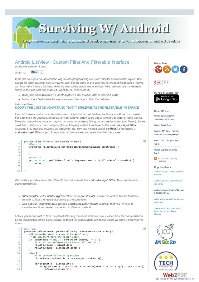 Android developer blog. Tutorial for android development that helps you to become an android developerAndroid developer bl...