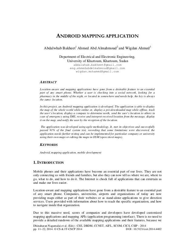 Dhinaharan Nagamalai et al. (Eds) : CSE, DBDM, CCNET, AIFL, SCOM, CICS, CSIP - 2014 pp. 11–22, 2014. © CS & IT-CSCP 2014 D...