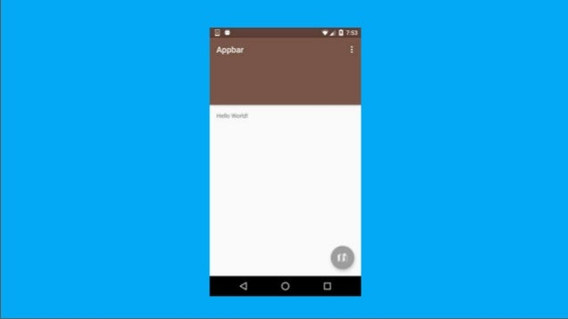 Android material design lecture #2