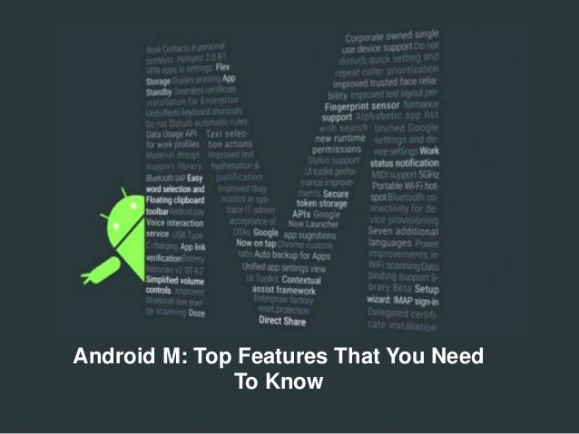 Android M: Top Features That You Need To Know