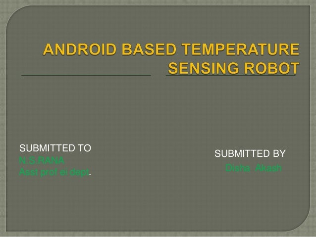 Android mobile phone controlled bluetooth robot