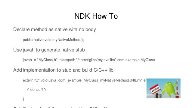 Android NDK Intro