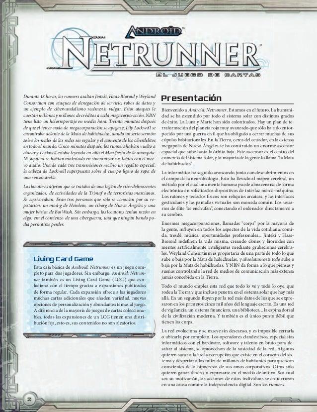 Android netrunner (Reglas) - Juego de cartas Slide 2