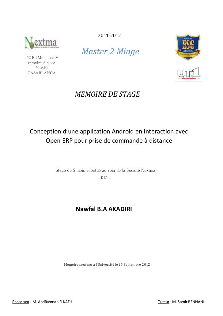 2011-2012                                      Master 2 Miage      452 Bd Mohamed V        (proximité place            Yas...