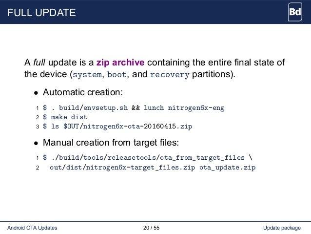 Android OTA updates