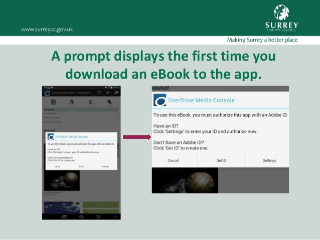 Download borrow a surrey libraries ebook using overdrive on android 16 fandeluxe Images