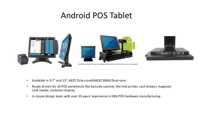 Android POS Tablet For Restaurant, Caffee Shops, Bars