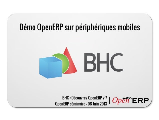 OpenERP Android presentation