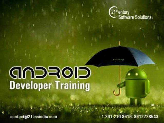 Android Developer Training Introduction