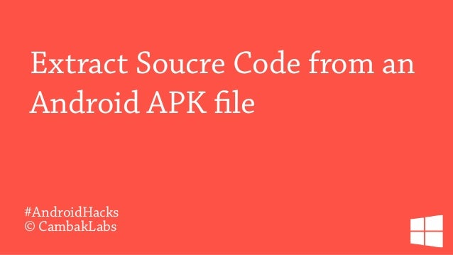 Extract source code from an Android apk file