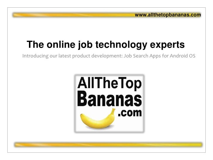 The online job technology experts<br />Introducing our latest product development: Job Search Apps for Android OS<br />www...
