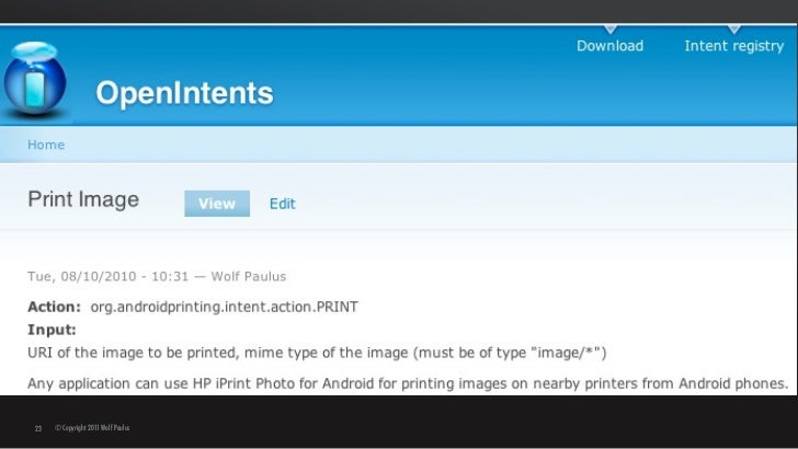 Android Print Intent