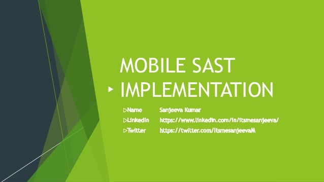 MOBILE SAST IMPLEMENTATION