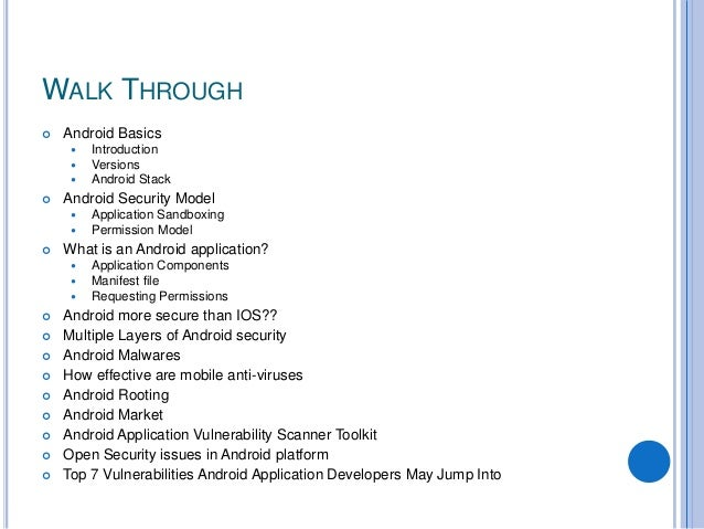 Android security Slide 2