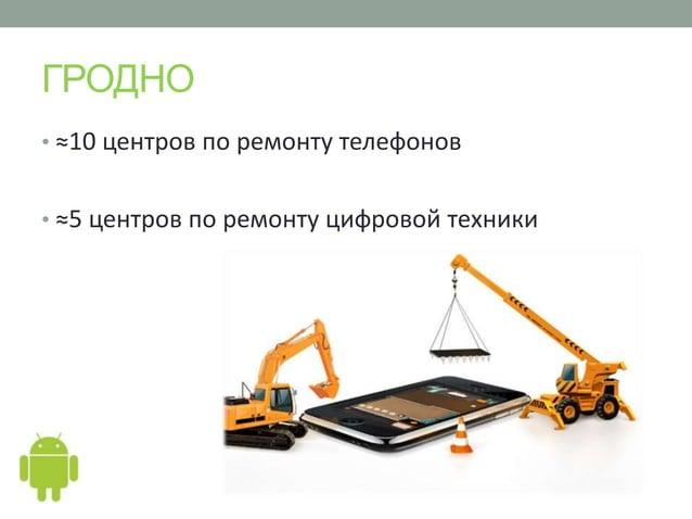 ГРОДНО• ≈10 центров по ремонту телефонов• ≈5 центров по ремонту цифровой техники